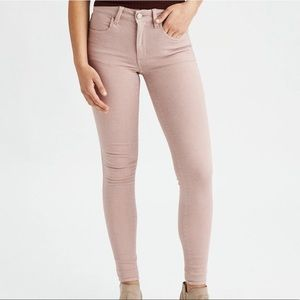 American Eagle Outfitters Dusty Pink Jegging Jeans